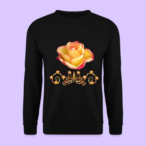 orange Rose, Ornament, Rosen, Blumen, Blüten, edel - Unisex Pullover
