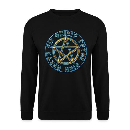 Runen Pentagramm Elemente Schutz Amulett Magie - Unisex Pullover