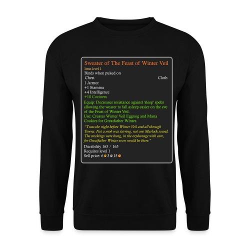 WoW Inspired Sweater of The Feast of Winter Veil - Unisex Sweatshirt
