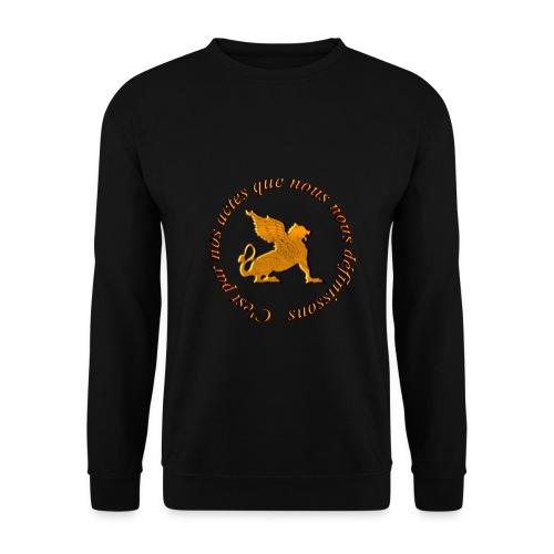Slogan Escouade Griffons - Sweat-shirt Homme