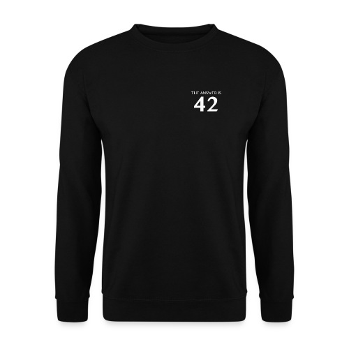 The Answer is 42 White - Unisex Sweatshirt