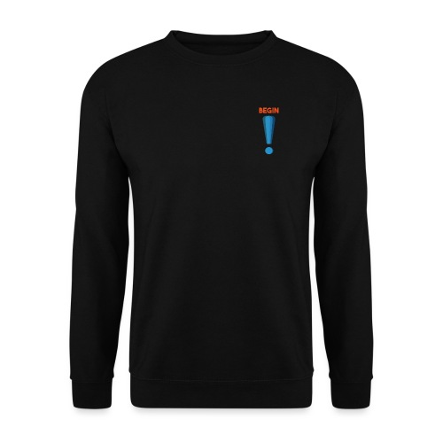 logo point exclamation - Sweat-shirt Unisex