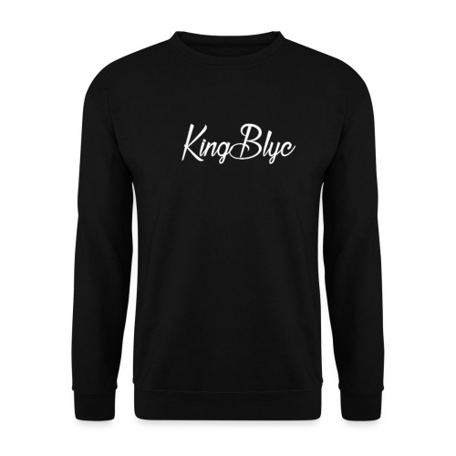 KingBlyc Logo White - Men's Sweatshirt