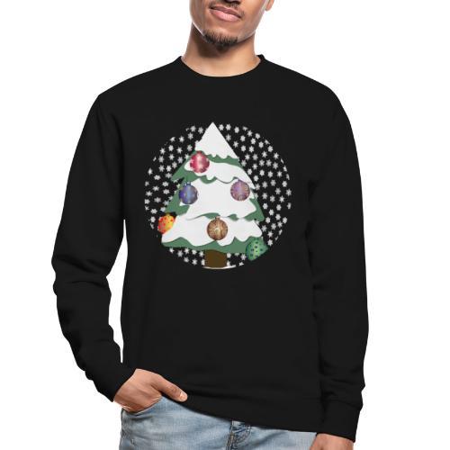Christmas tree in snowstorm - Unisex Sweatshirt