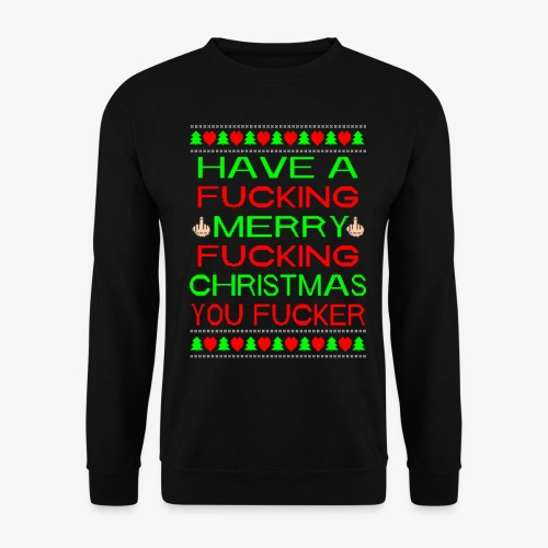 Merry Fucking Christmas Ugly Christmas Sweater - Männer Pullover