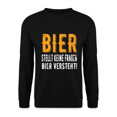 Bier stellt keine Fragen Bier verteht Vintage - Männer Pullover