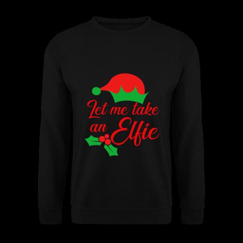 Weihnachten   Elf Mütze Weihnachtself Wortspiel - Männer Pullover