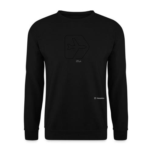 Netzpiloten Logo weiss - Unisex Pullover