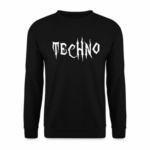 Techno Schriftzug Horror Böse Harder Styles - Männer Pullover