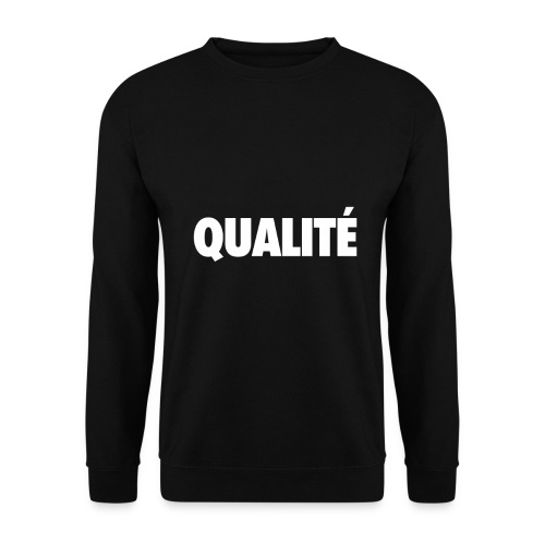 QualiteWhite png - Sweat-shirt Homme