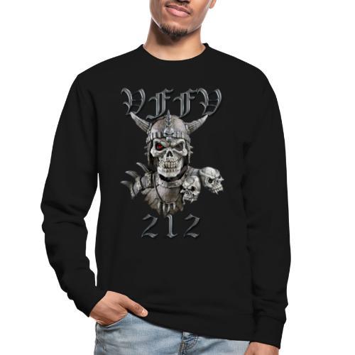 Viking skull rød stor png - Unisex sweater