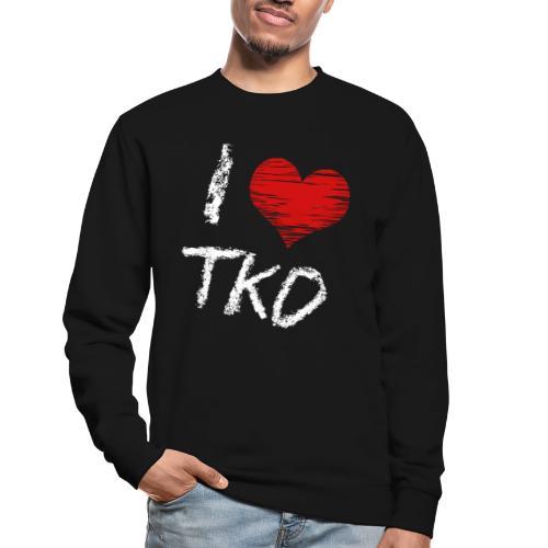 I love tkd letras blancas - Sudadera unisex