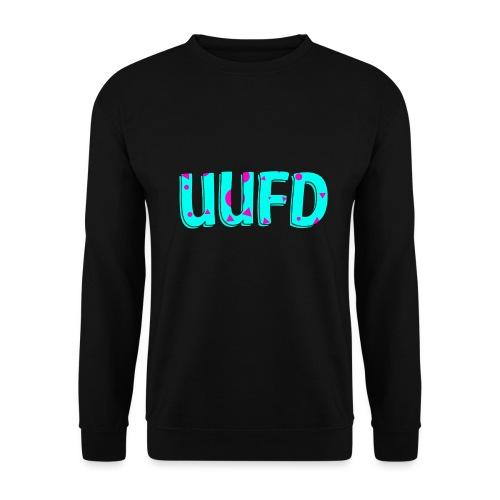 80s logo trui blauw roze png - Unisex sweater