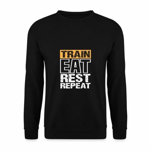 Train, Eat, Rest, Repeat - Training T-Shirt - Männer Pullover