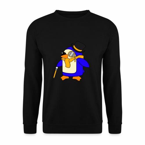 Cute Posh Sunny Yellow Penguin - Men's Sweatshirt