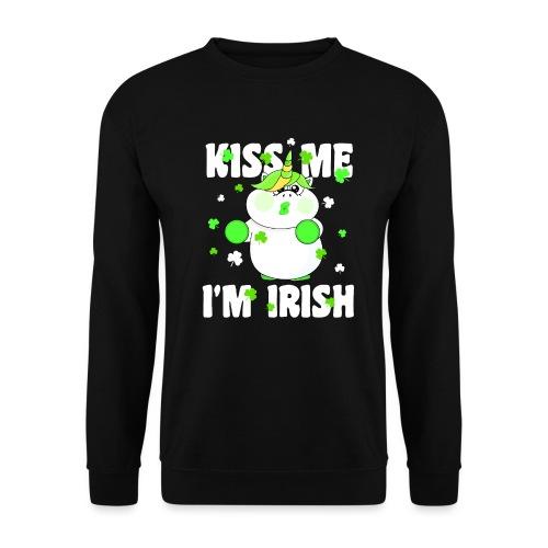 Kiss me I'm Irish Unicorn Einhorn - Unisex Pullover