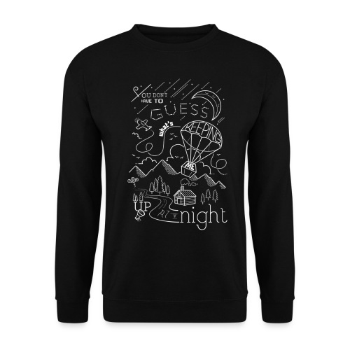 Up at Night lil smaller - Unisex Sweatshirt