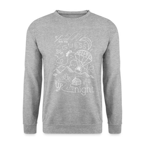 Up at Night lil smaller - Unisex Sweatshirt