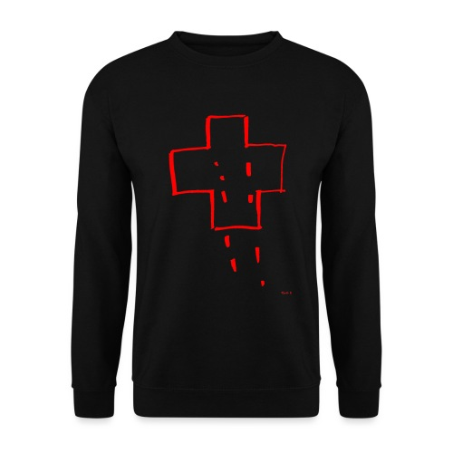 Cross Sketch - Men's Sweatshirt