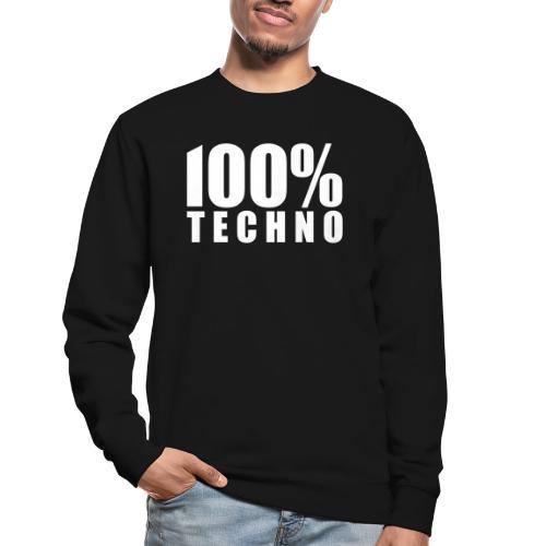 100% Techno Schriftzug Floorfreude Rave Festivals - Unisex Pullover