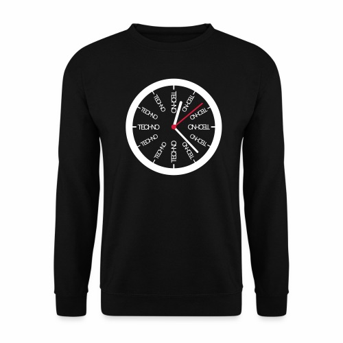 Techno Uhr Clock Rave All Day Clubbing DJ Watch - Männer Pullover