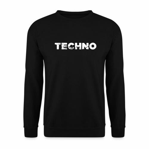 Techno Schriftzug zerkratzt kaputt zerstört - Unisex Pullover