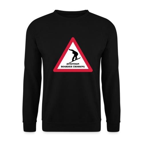 Attention Snowboarder Crossing 2014 - Männer Pullover