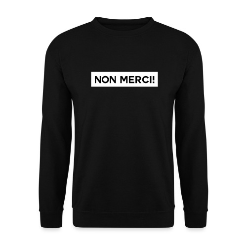 BASIC2 APPAREL BLACK EDITION - UNISEX / NON MERCI! - Sweat-shirt Unisexe