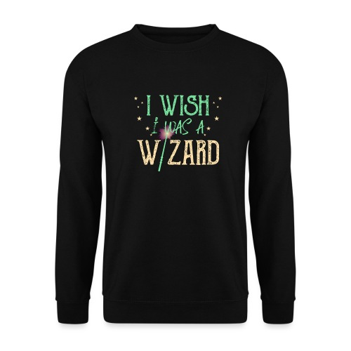 I Wish I Was A Wizard - Green - Men's Sweatshirt