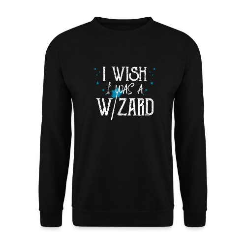 I Wish I Was A Wizard - White - Men's Sweatshirt