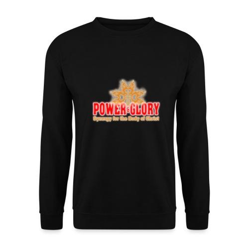Power and Glory Logo glow red and orange - Men's Sweatshirt