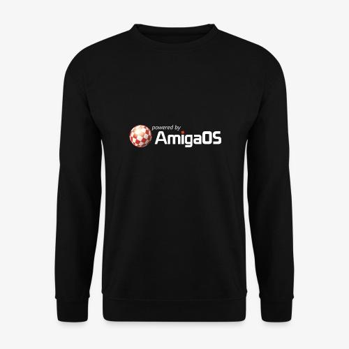 PoweredByAmigaOS white - Men's Sweatshirt