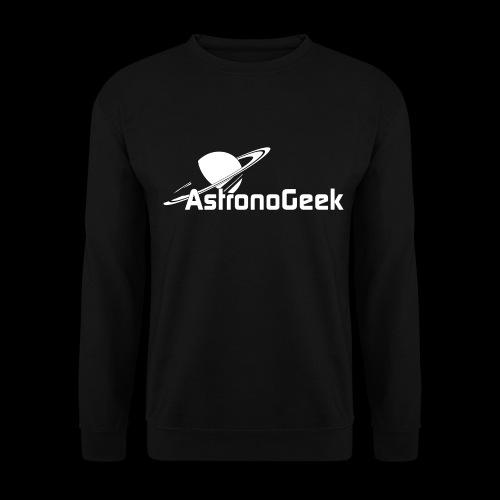 Logo AstronoGeek avec texte - Sweat-shirt Unisexe