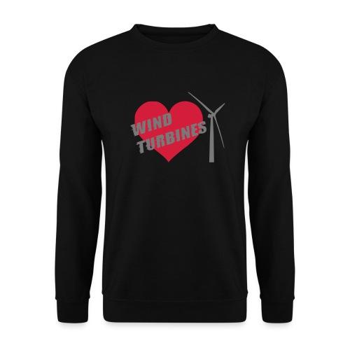 wind turbine grey - Men's Sweatshirt