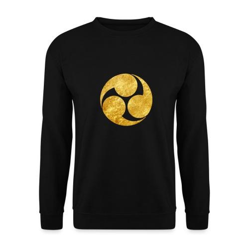 Kobayakawa Mon Japanese clan gold on black - Unisex Sweatshirt