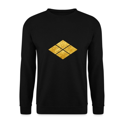 Takeda kamon Japanese samurai clan faux gold - Unisex Sweatshirt