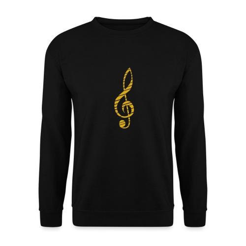 Goldenes Musik Schlüssel Symbol Chopped Up - Unisex Sweatshirt