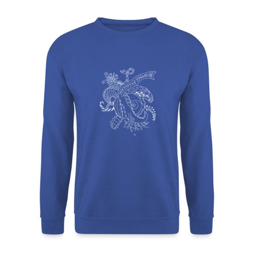 Fantasy hvid scribblesirii - Unisex sweater