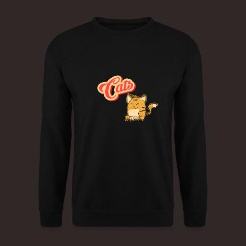 Katze   Katzen süß Schriftzug - Männer Pullover