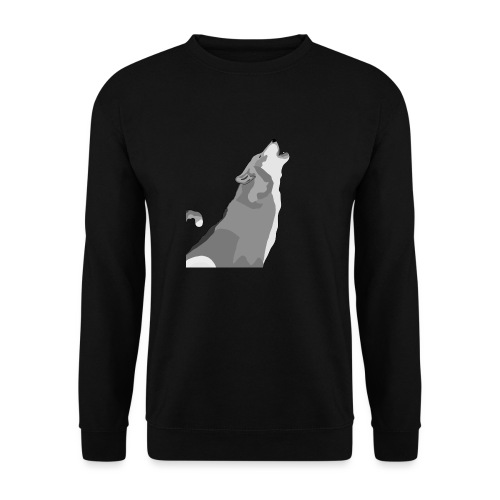 Wolf heulend - Unisex Pullover