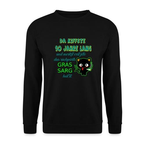 Da kiffste 10 jahre Gras Sarg jeißt, Kifferkatze - Männer Pullover