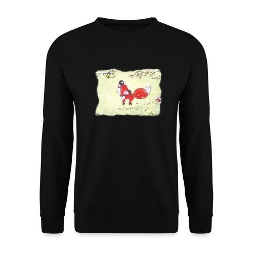 Hopsender Fuchs im Schnee - Männer Pullover