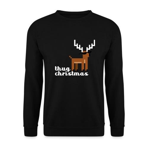 Christmas Xmas Deer Pixel Funny - Unisex Sweatshirt