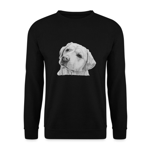 labrador retriever yellow - head - Herre sweater