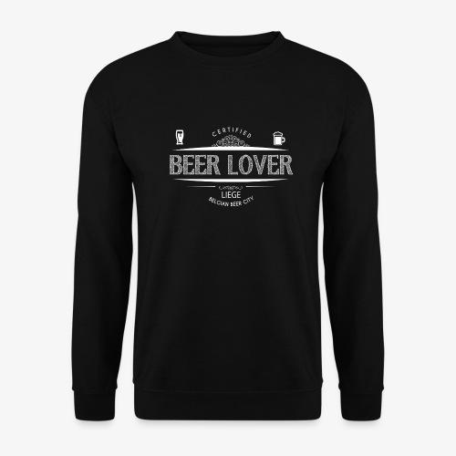 beerloverwhite png - Sweat-shirt Unisexe