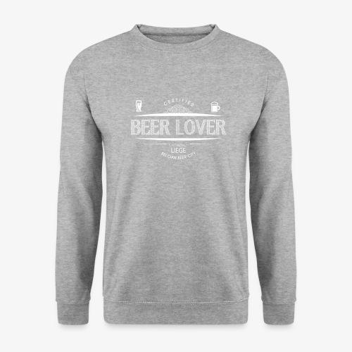 beerloverwhite png - Sweat-shirt Unisex