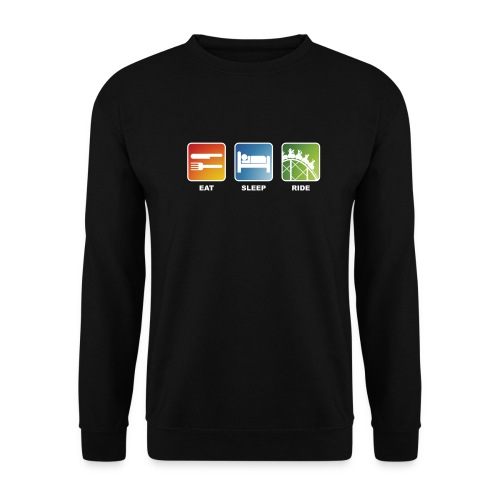 Eat, Sleep, Ride! - T-Shirt Schwarz - Unisex Pullover