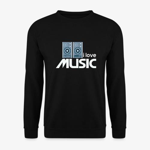 Amo la música 02 - Sudadera hombre