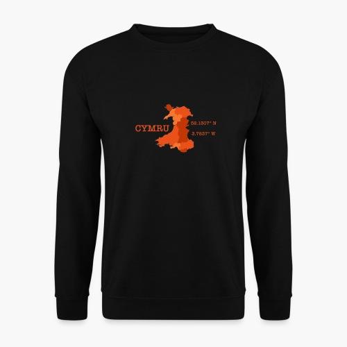 Cymru - Latitude / Longitude - Men's Sweatshirt