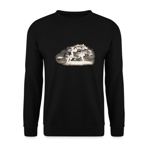 Wolf Loup Lupo Lobo - Men's Sweatshirt